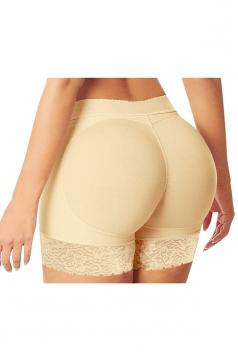 Womens Sexy Lace Patchwork Butt Lifter Panty Khaki