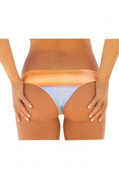 Womens Sexy Color Block Swimsuit Bottom Orange