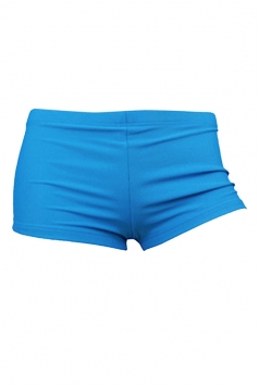 Womens Sexy Plain Plus Size Swimsuit Bottom Blue