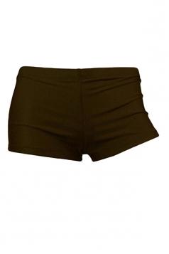 Womens Sexy Plain Plus Size Swimsuit Bottom Coffee
