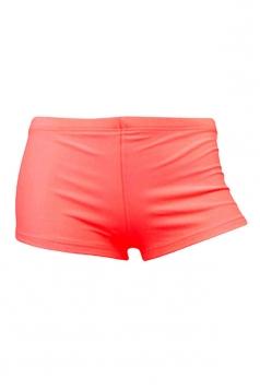 Womens Sexy Plain Plus Size Swimsuit Bottom Light Red