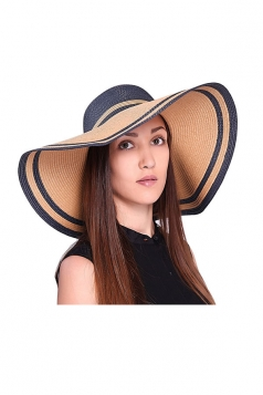 Womens Elegant Straw Braid Bow Detail Hat Navy Blue