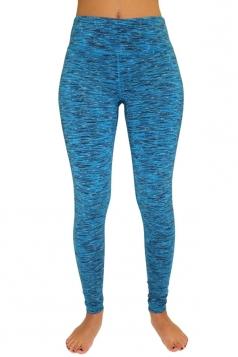 Womens Elastic High Waist Gym Yoga Running Sports Leggings Blue
