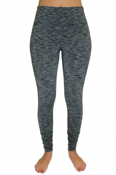 Womens Elastic High Waist Gym Yoga Running Sports Leggings Dark Gray