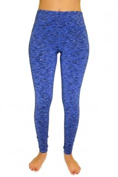 Womens Elastic High Waist Yoga Running Sports Leggings Sapphire Blue
