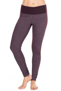 Womens Slimming High Waist Yoga Workout Sports Leggings Brown