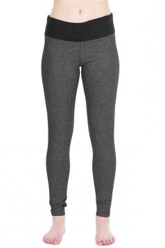 Womens Slimming High Waist Yoga Workout Sports Leggings Dark Gray