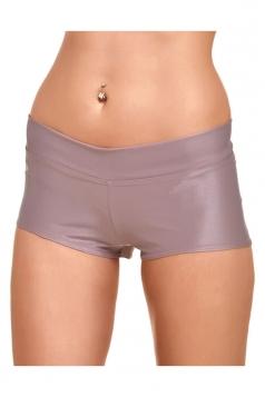 Womens Liquid Plain Sports Mini Shorts Pink