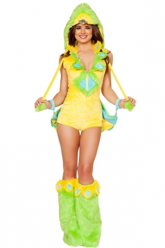 Womens One-piece Bird Halloween Bodysuit Costume Yellow