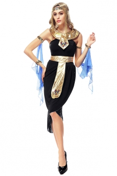 Womens Tube Arabic Halloween Dress Costume Black