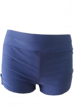 Womens Drawstring Plain Swimsuit Bottom Navy Blue