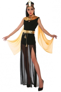 Womens Sleeveless Egyptian Queen Halloween Costume Black