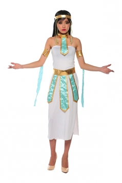 Womens Side Slit Tube Greek Goddess Halloween Costume White