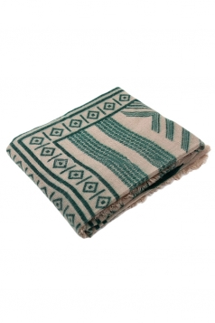 Womens Exotic Geometric Patterned Shawl Scarf Green