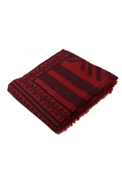 Womens Exotic Geometric Patterned Shawl Scarf Red