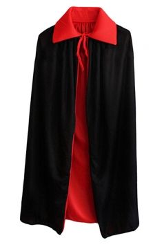 Womens Halloween Dress-up Wizard Magician Cloak Black