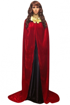 Womens Turndown Collar Bow Halloween Vampire Cloak Red