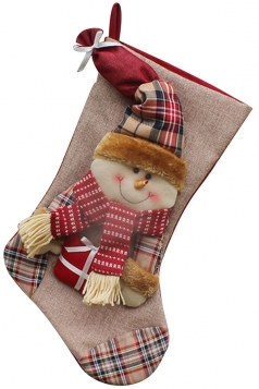 Womens Snowman Personalized Christmas Decoration Stocking Gray