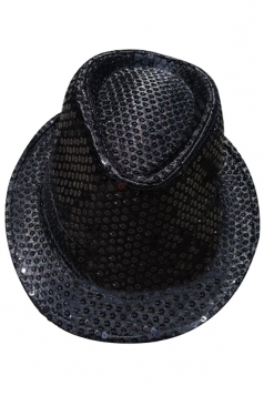 Womens Sequined Magic Performance Hat Black