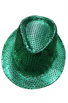 Womens Sequined Magic Performance Hat Green