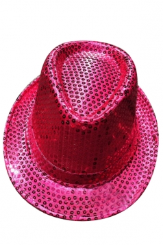 Womens Sequined Magic Performance Hat Rose Red