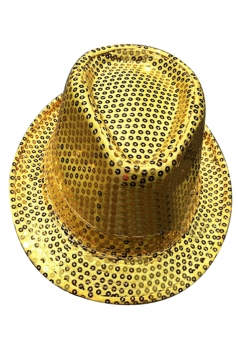 Womens Sequined Magic Performance Hat Yellow