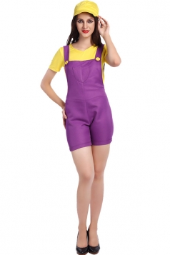 Womens Super Mario Halloween Cartoon Costume Yellow