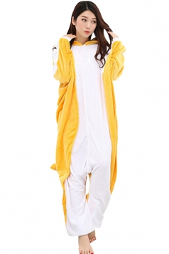 Womens Flying Squirrel One-piece Hooded Costume Pajamas Yellow