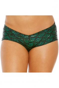 Womens Sexy Low Waist Scale Printed Panty Green