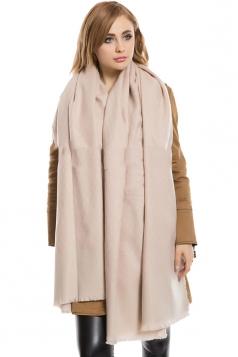 Womens Thick Eyelash Tassel Plaid Patterned Shawl Scarf Pink