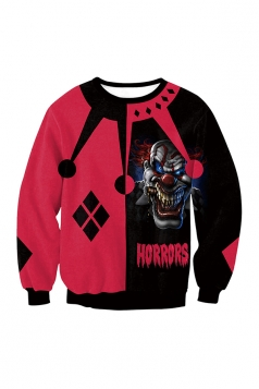 Twisty The Clown Harley Quinn Long Sleeve Halloween Sweatshirt Red