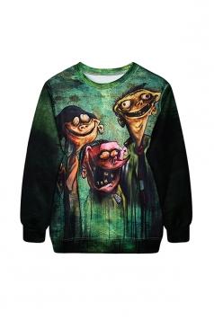 Ed Edd N Eddy Halloween Digital Printed Sweatshirt Green