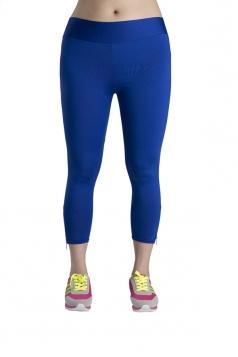 Women Skinny Solid Color Yoga Sports Wear Leggings Blue