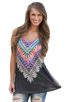 Women Kaleidoscope Dreams Tank Top Black