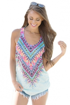 Women Kaleidoscope Dreams Tank Top White