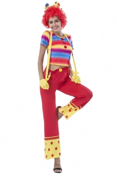 Suspender Pants Set Clown Costume
