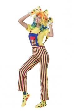 Spirited Clown Circus Jumpsuit Costume
