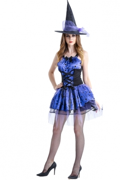 Blue Witch Skater Dress Costume