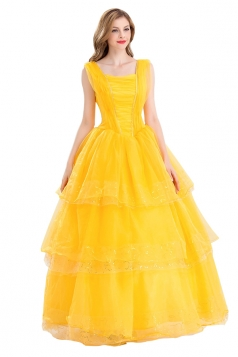 Beauty and The Beast Princess Belle Layered Costume