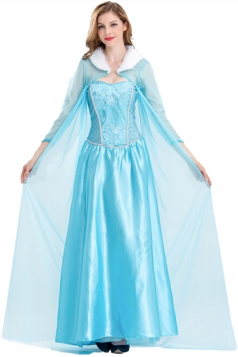 Elegant Frozen Elsa Costume With Cloak