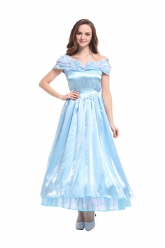 Women Princess Cinderella Halloween Costume Blue