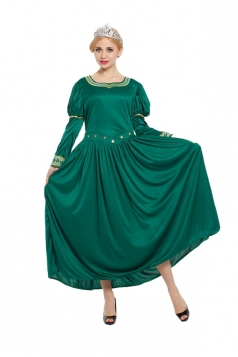 Women Shrek Princess Fiona Dress Halloween Costume Green