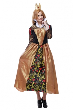 Women Queen Of Hearts Dress Halloween Costume Coffee