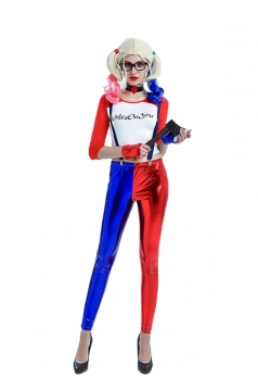 Women Sexy Suicide Squad Harley Quinn Halloween Costume Blue