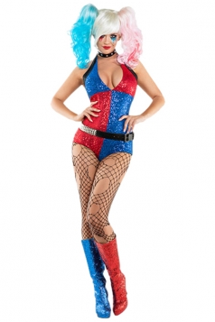Daddys Little Monster Suicide Squad Harley Quinn Halloween Costume Blue
