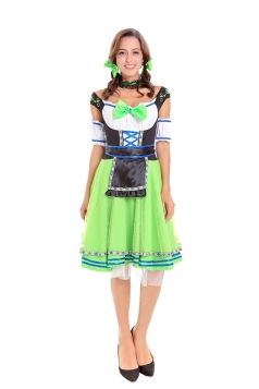Halloween Oktoberfest Maid Costume Carnival Festival Beer Girl Green
