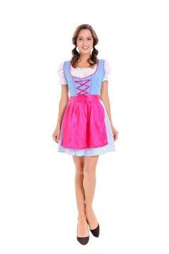 Halloween Beer Festival Maid Costume Beer Girl Costume Blue