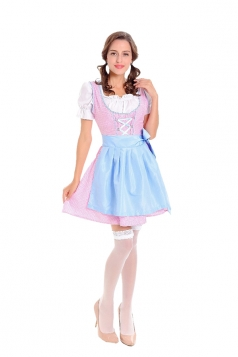 Halloween Beer Festival Maid Costume Beer Girl Costume Pink