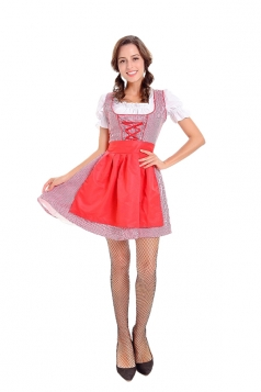 Halloween Beer Festival Maid Costume Beer Girl Costume Red