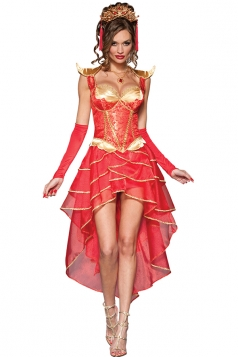 Women's Dragon Lady Adult Costume For Halloween Red